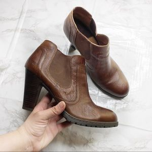 Born B.O.C. Leather Heeler Slip On Ankle Boots